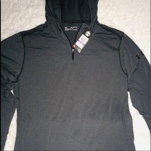 Under Armour Slate Gray Long Sleeve Hoodie XXL &XL